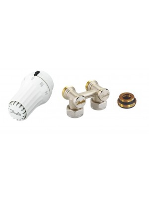 """DANFOSS set rohový 1/2""""  RAE-K termostatická hlavica + RLV-KS rohové šroubenie 013G5090"""