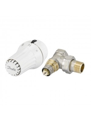"Danfoss set rohový RA-N ventil 1/2"" + RAE 5054 termostatická hlavica 013G5093"