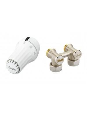 DANFOSS set rohový - termostatická hlavica RAE5054 a rohové šróbenie RLV-KS 013G5096