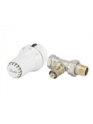 """Danfoss set priamy RA-N ventil 1/2"""" + RAE 5054 termostatická hlavica 013G5094"""