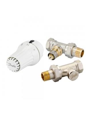 DANFOSS set priamy - termostatická hlavica RAE 5054, šróbenie RLV-S a ventil RA-N 013G5174